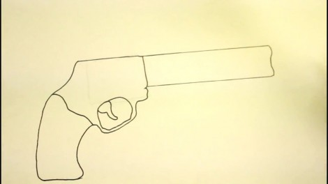 How To Draw A Pistol-Step By Step-Gun-On Paper..mp4_20151103_192155.802