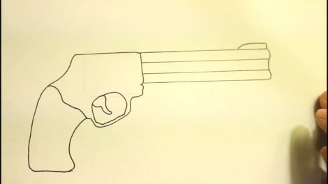 How To Draw A Pistol-Step By Step-Gun-On Paper..mp4_20151103_192201.218