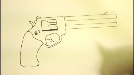 How To Draw A Pistol-Step By Step-Gun-On Paper..mp4_20151103_192215.074