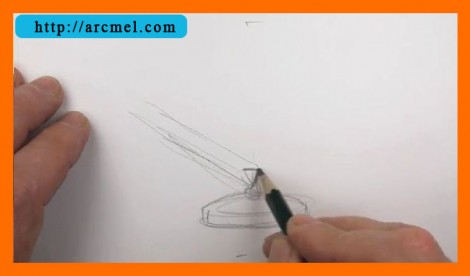 How to draw lamp step by step 2