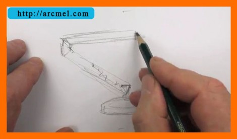 How to draw lamp step by step 3