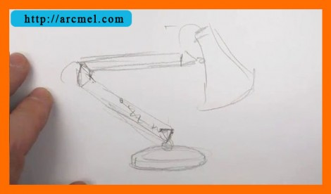 How to draw lamp step by step 4