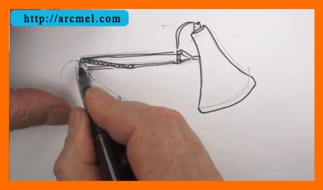 How to draw lamp step by step 6