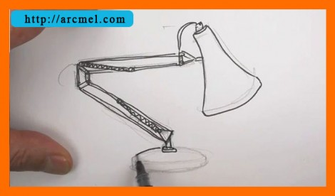 How to draw lamp step by step 7