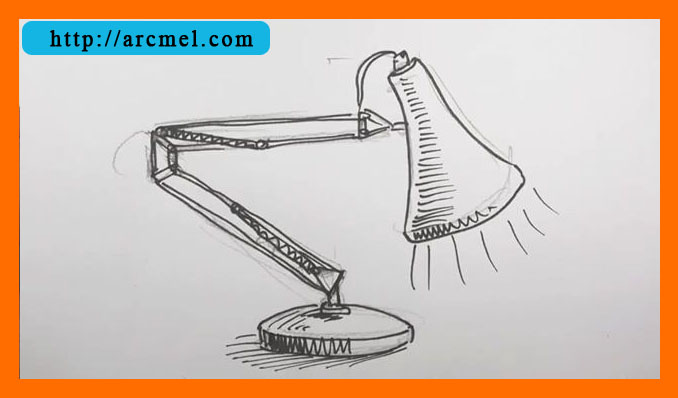 How to draw lamp step by step arcmel com for Sofa zeichnen